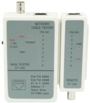 gembird nct 1 cable tester for rj 45 and rg 58 cables photo