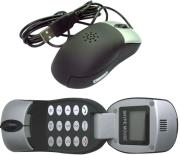 gembird sky m1 optical mouse with voip telephone function and lcd screen photo