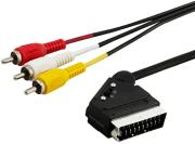 savio cl 133 audio video scart  3xrca cable 2m photo