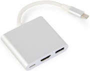 gembird a cm hdmif 02 sv usb type c multi adapter silver photo