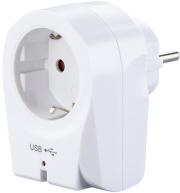 hama 183275 usb socket adapter charger 21 a white photo