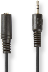 nedis cagt22050bk50 audio cable m f 35mm stereo 5m photo