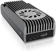 raidsonic icy box ib 1822mf c31 m2 nvme exclosure usb c with switchable write protection photo