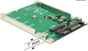 delock 62544 25 converter sata 22 pin 1 x m2 key b 7 mm photo