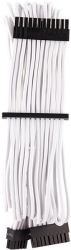 corsair diy cable premium individually sleeved atx 24 pin type4 gen4 white photo