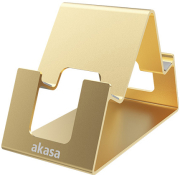 akasa aries pico aluminum phone tablet stand gold photo