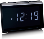 lenco cr 525bk clock radio with usb charger and player photo