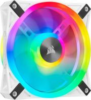 corsair icue ql120 rgb 120mm pwm white fan  single pack photo