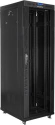 lanberg free standing rack 19 37u 600x800 flat pack black with glass door lcd photo