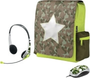 trust 16886 combat 120 netbook schoolbag messenger with mouse and headset photo