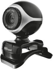 trust 17003 exis webcam black silver photo