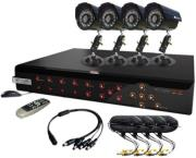 kguard kg ca104 h02 4ch h264 standalone dvr 4 ccd camera combo kit photo