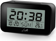 life acl 201 digital alarm clock with indoor thermometer and lcd display photo