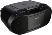 sony cfd s70b cd casette boombox with radio black photo
