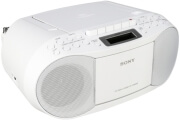 sony cfd s70w cd casette boombox with radio white photo