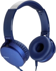 sony mdr xb550apl extra bass headphones blue photo