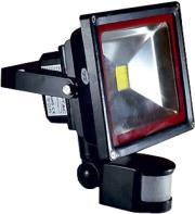 v tac vt 4730pir 30w led floodlight with sensor premium cold white grey photo
