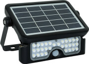 v tac 5w led solar floodlight black body 4000k photo