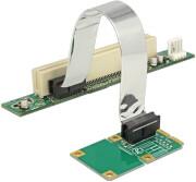 delock 41359 riser card mini pci express 1x pci with flexible cable 13cm left insertion photo