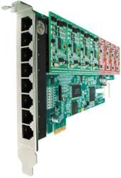 openvox a800e44 8 port analog pci e card 4 fxs 4 fxo modules photo