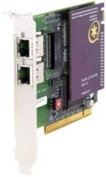 digium wildcard te207p dual span t1 e1 pci card 50v with octasic echo cancel module photo
