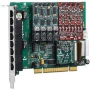 openvox ae810p02 8 port analog pci card 2 fxo400 modules with ec2032 modules photo