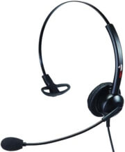 supervoice svc101 call center headset mono with 35mm plug photo