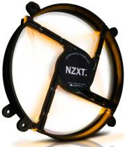nzxt fs 200 enthusiast silent case fan orange led 200mm photo