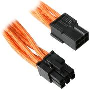 bitfenix 6 pin pcie extension 45cm sleeved orange black photo