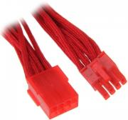 bitfenix 8 pin pcie extension 45cm sleeved red red photo