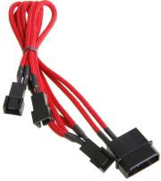 bitfenix molex to 3x 3 pin 5v adapter 60cm sleeved red black photo
