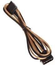 bitfenix molex to sata adapter 45cm sleeved gold black photo