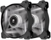 corsair air series af120 led white quiet edition high airflow 120mm fan twin pack photo