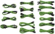 corsair professional individually sleeved dc cable kit type 3 generation 2 green photo
