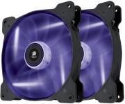 corsair air series sp140 led purple high static pressure 140mm fan twin pack photo