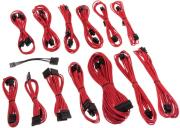 cablemod se series km3 xp2 xp3 fl2 cable kit sleeved red photo