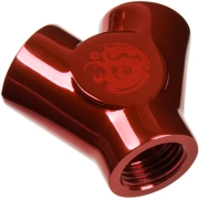 bitspower y adapter 3x ig 1 4 inch blood red photo