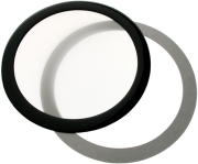 demciflex dust filter 120mm round black white photo