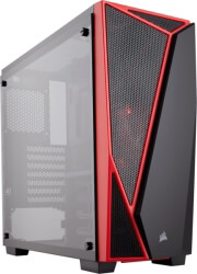 case corsair carbide series spec 04 tempered glass black red