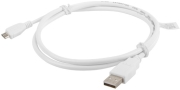 lanberg cable usb 20 micro am mbm5p white 1m photo