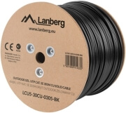 lanberg utp solid outdoor gel cable cu cat5e 305m grey photo