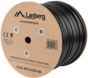 lanberg utp solid outdoor gel cable cu cat6 305m grey photo