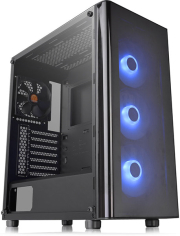 case thermaltake v200 tempered glass rgb edition mid tower chassis black