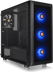 case thermaltake versa j23 tempered glass rgb edition mid tower chassis black photo