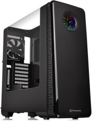 case thermaltake view 28 rgb gull wing window atx mid tower chassis black photo