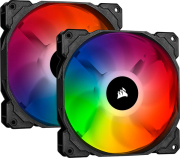 corsair sp140 rgb pro 140mm rgb led fan dual pack with lighting node core photo