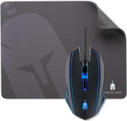 spartan gear phalanx wired gaming mouse mousepad 300mm x 230mm photo