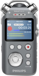 philips dvt7500 16gb voice tracer audio recorder photo