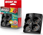 acar surge protector x4 4 sockets black photo
