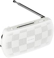 sony srf 18w portable am fm radio white photo